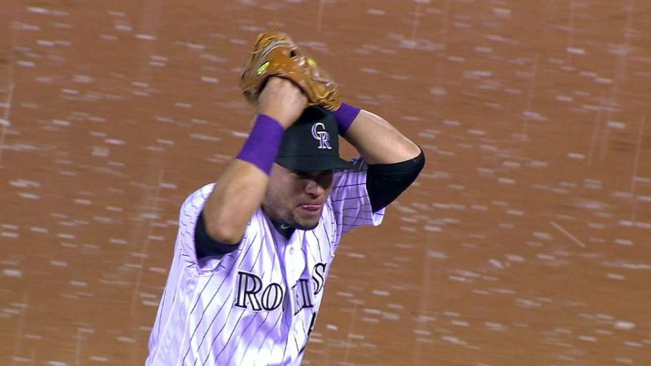 Rockies in awe of impressive hail on Friday