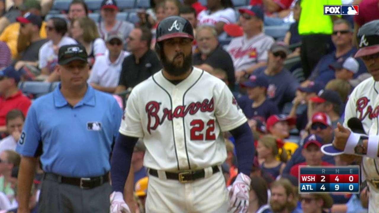 Turner's 2 HRs vs. Braves can't trim Nats' number