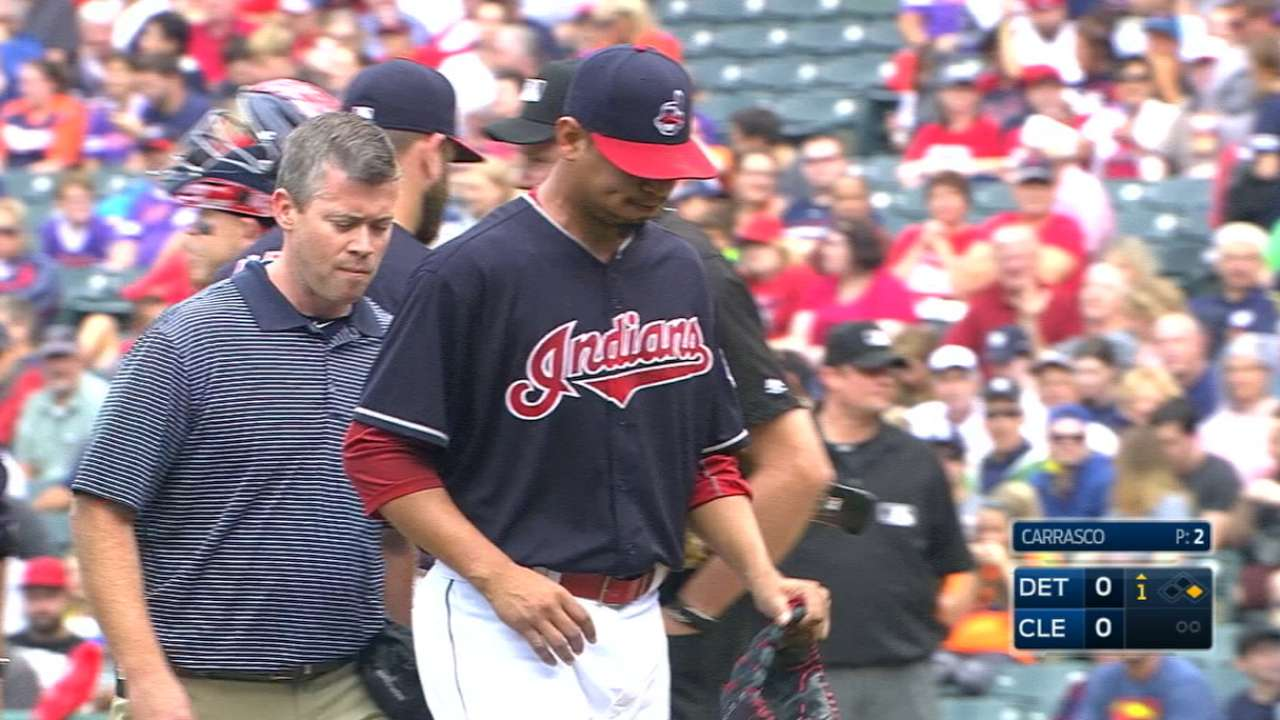 Carrasco injures hand, out for regular season