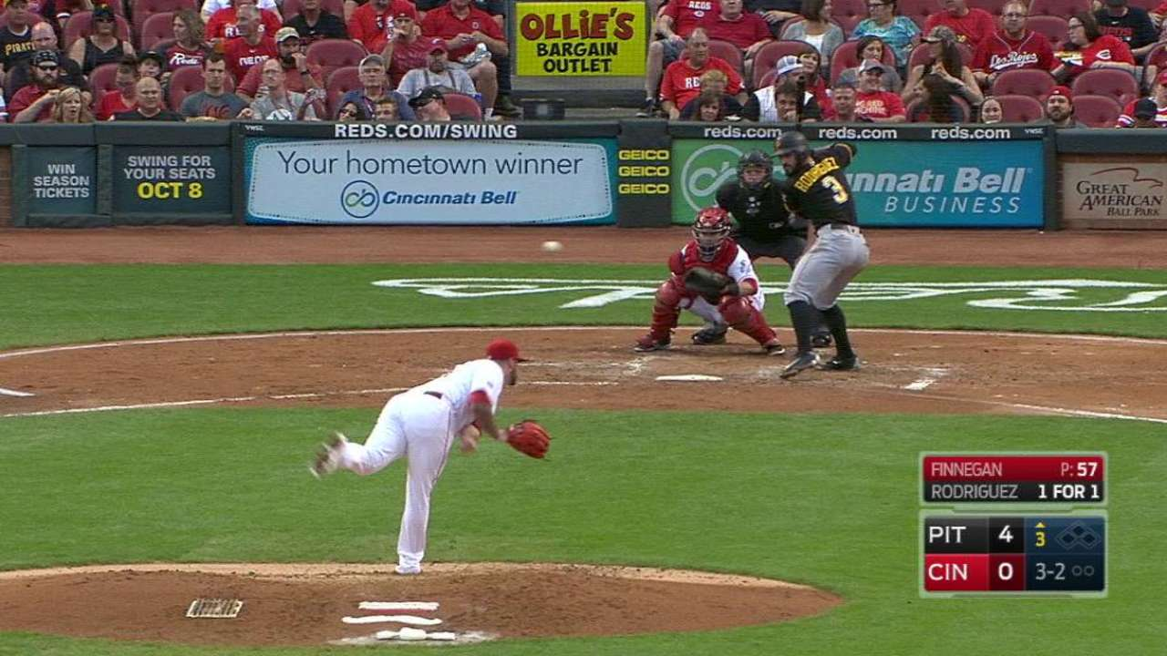 Finnegan strikes out Rodriguez