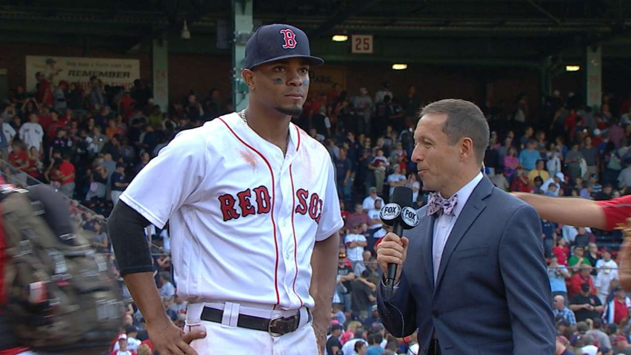 Bogaerts on offense, victory