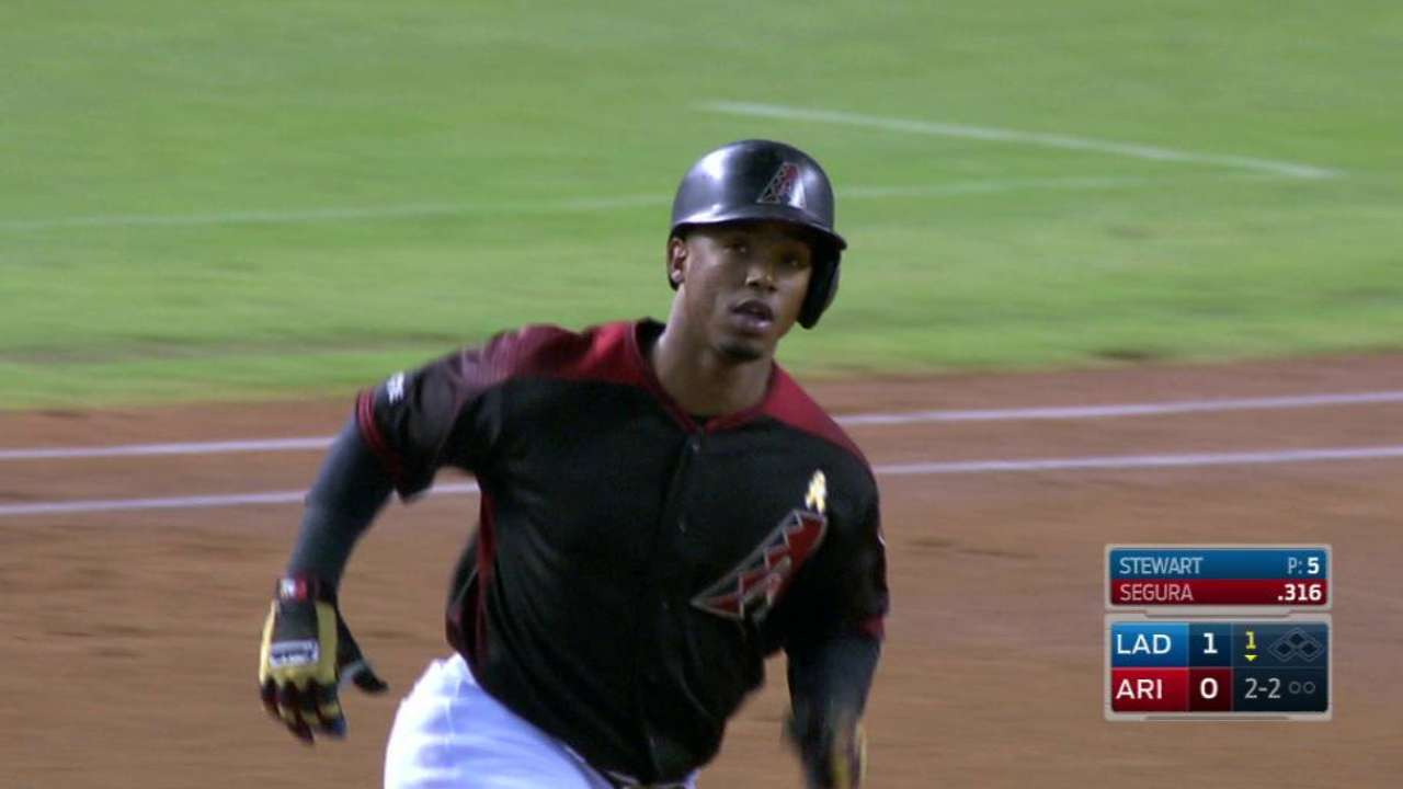 Segura hits one of 2016's unlikeliest HRs