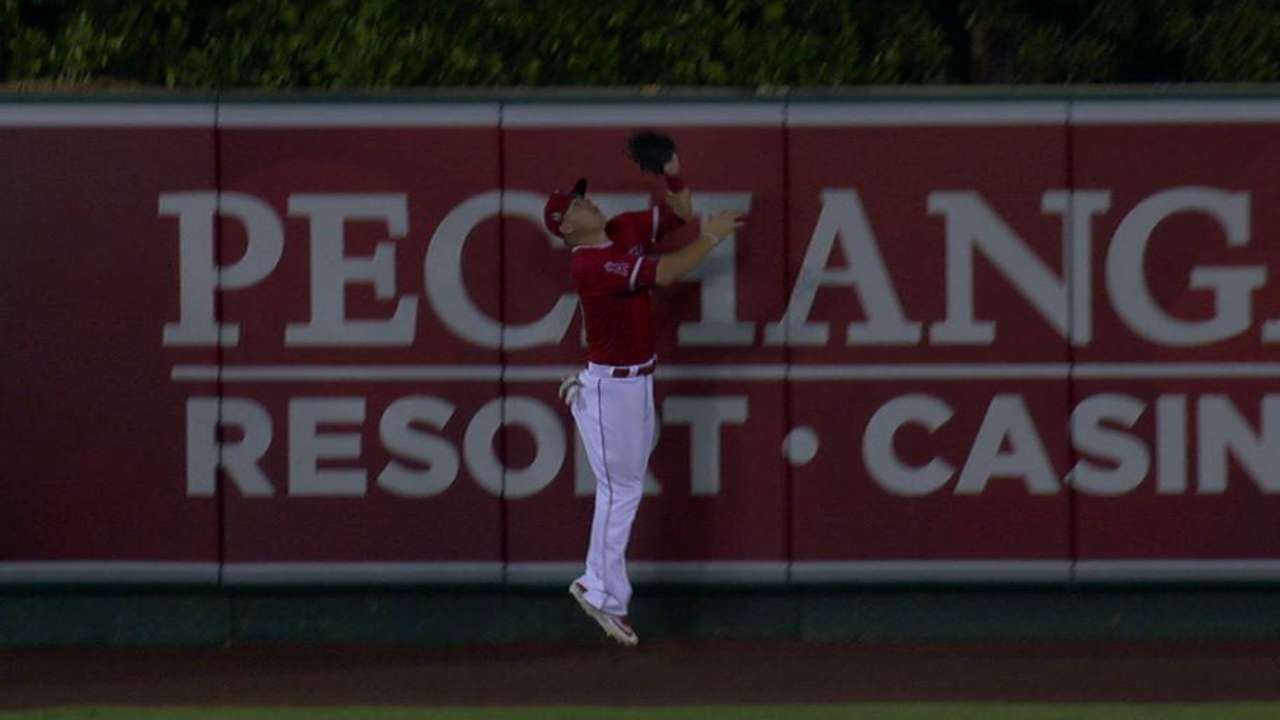 Trout's leaping grab
