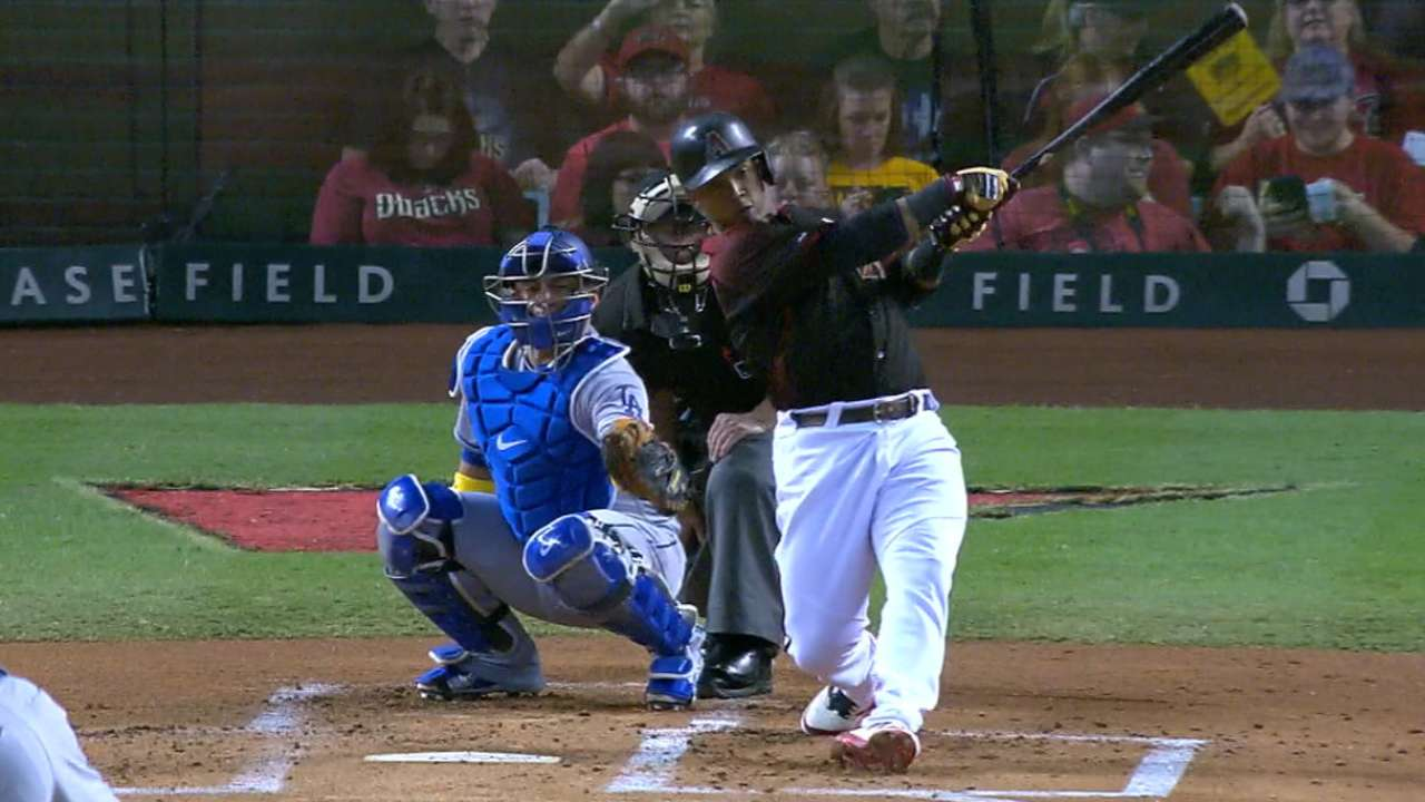Segura's leadoff home run