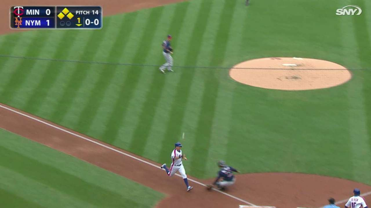 Conforto takes advantage of rare start with key hit