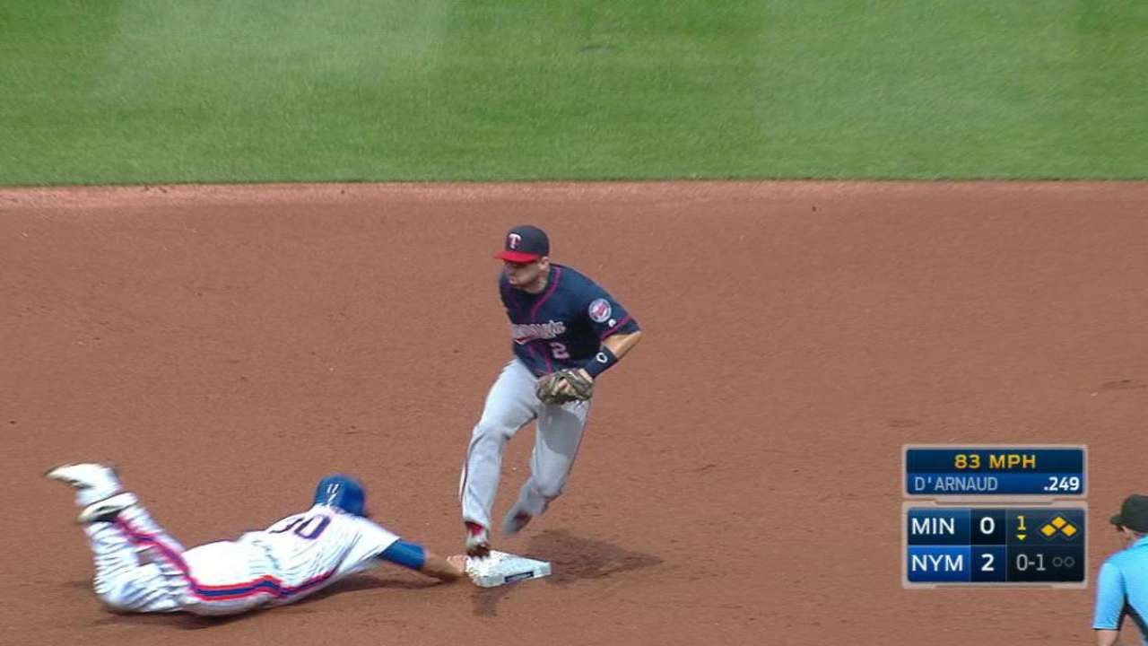 Dozier's unassisted double play