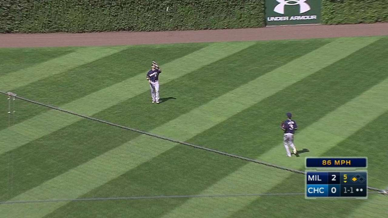 Peralta induces flyout