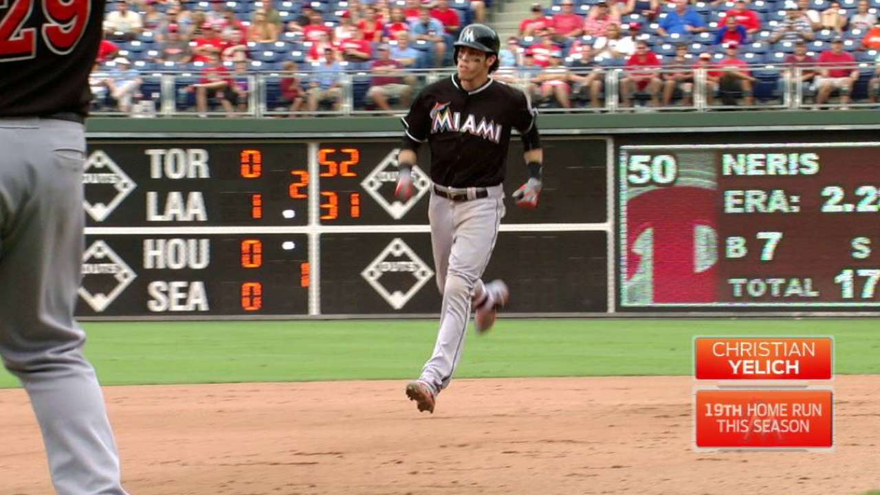 Yelich, Marlins battling to end of stretch run