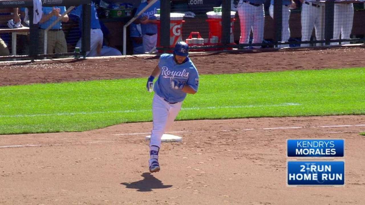 Morales' two-run homer