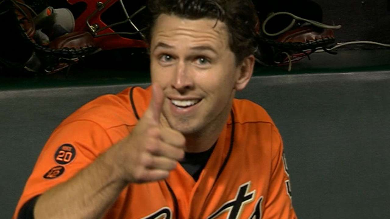 Posey busts out of long homer drought