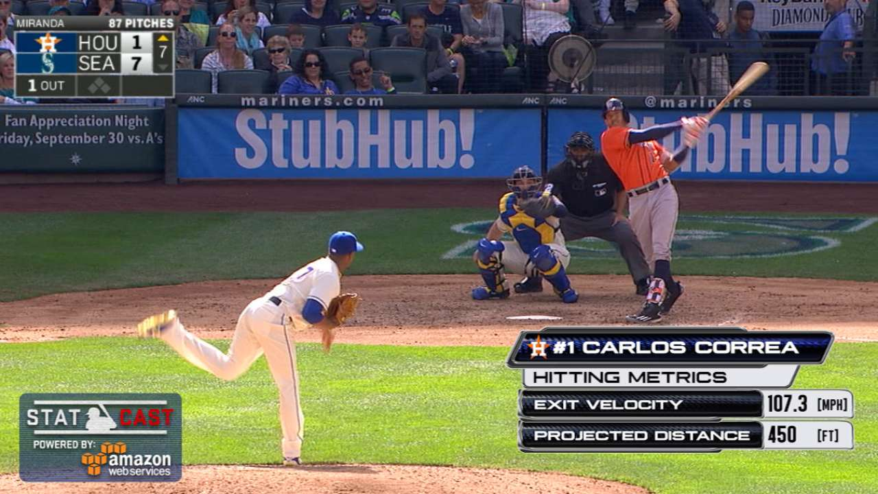 Statcast: Correa's 450-ft homer