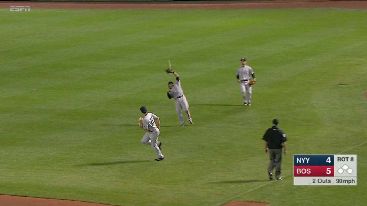 Solano's falling catch