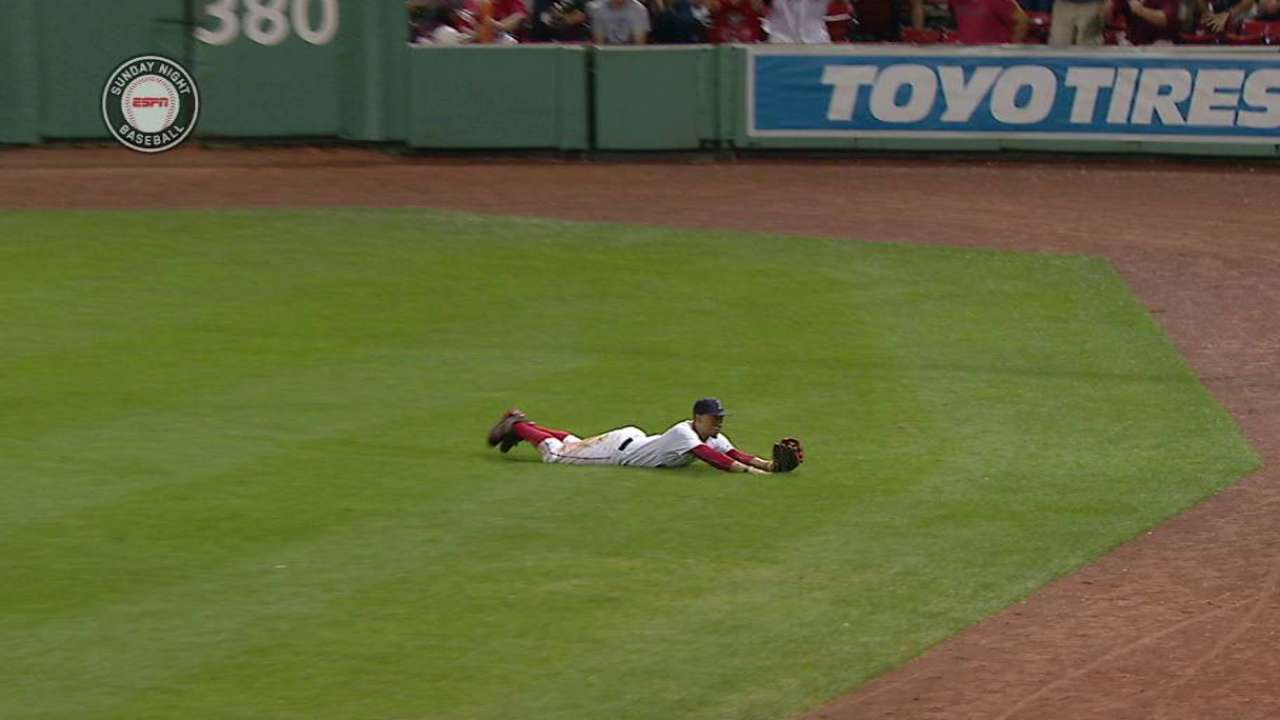 Betts' second diving grab