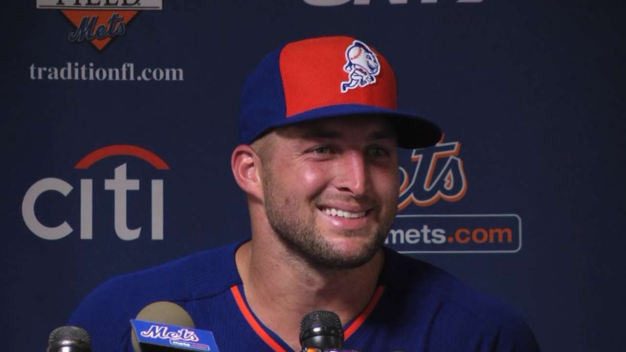 Tebow 'excited' after first Mets workout