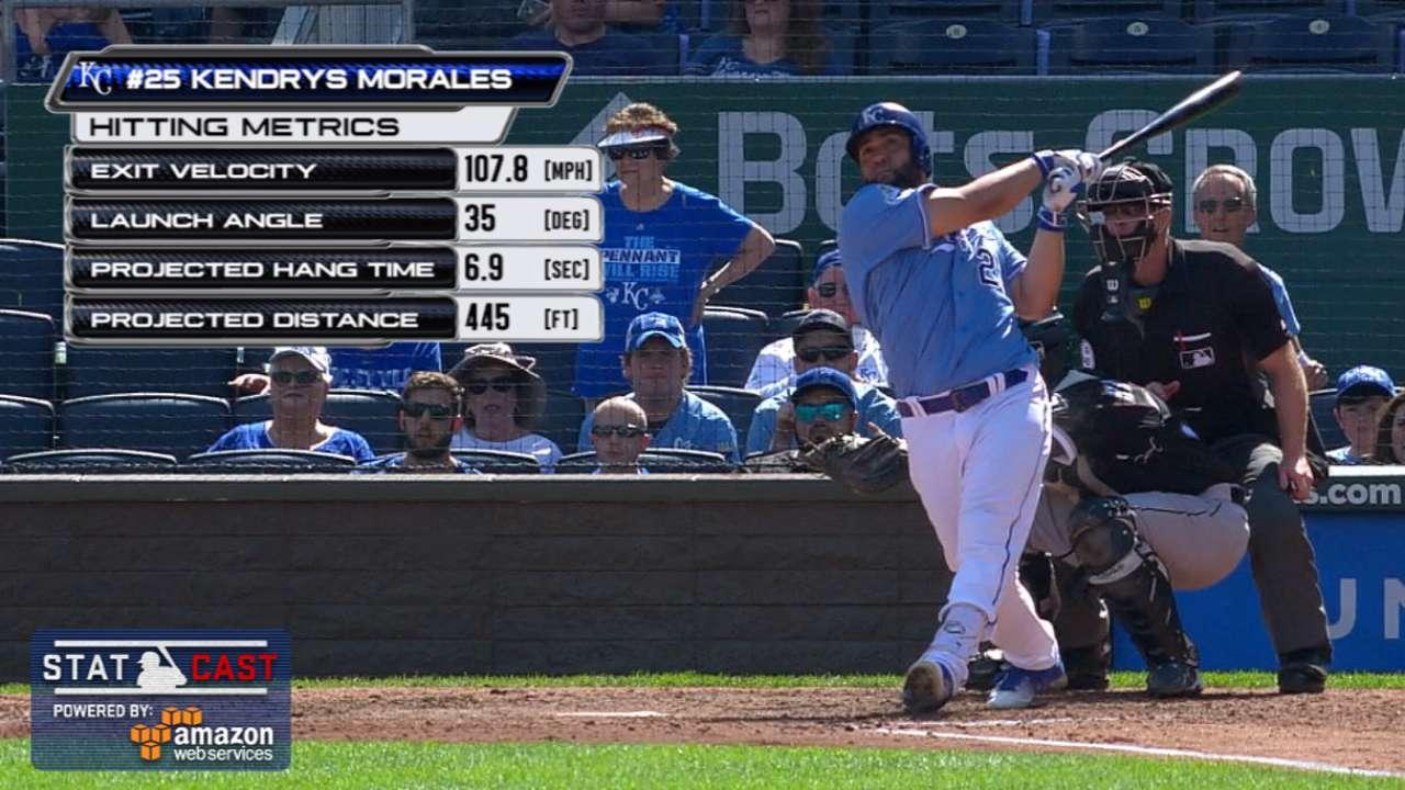 Statcast: Morales' three-run HR