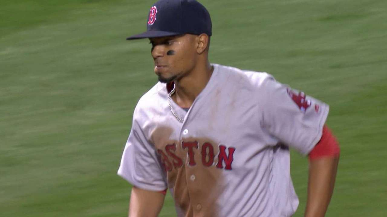 Bogaerts' throw from short