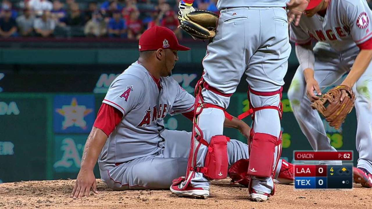 Chacin shaken up in the 4th