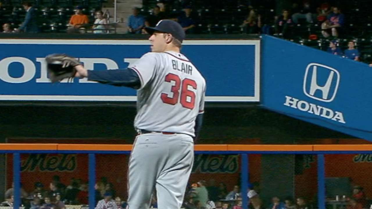 Blair, Braves stand up to Thor in New York