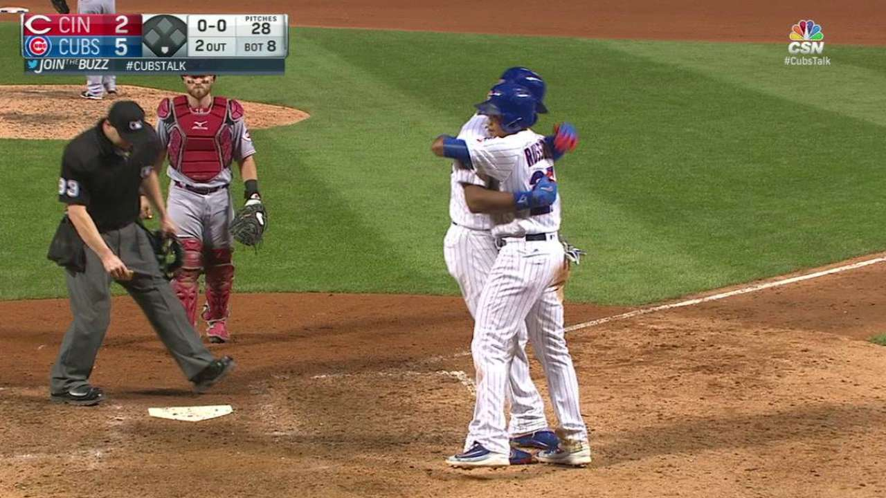 Cubs battle back with power surge vs. Reds