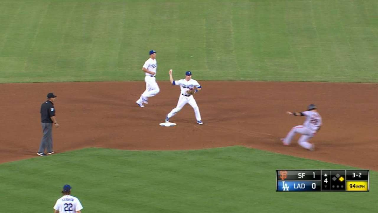 Seager starts double play