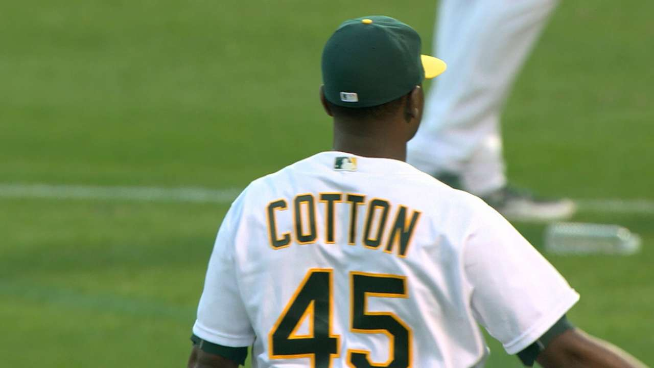 Cotton strikes out six