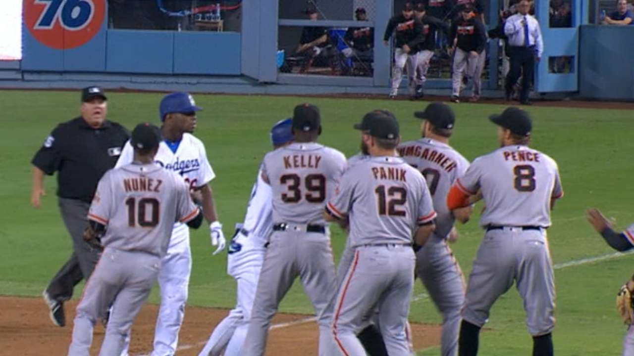 Must C: Benches clear in LA