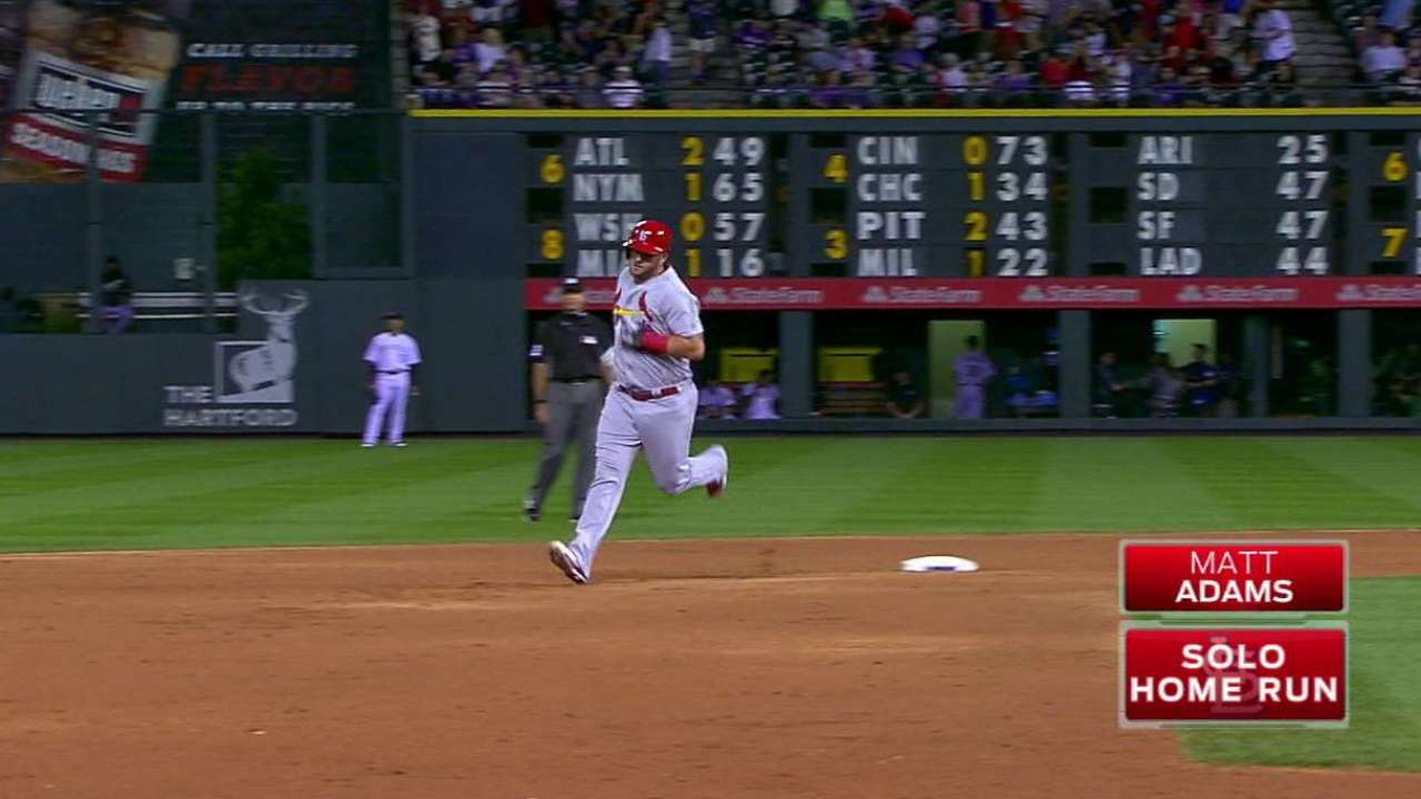 Adams' solo home run