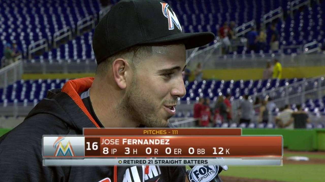 Jose scheduled to start Sunday vs. Braves