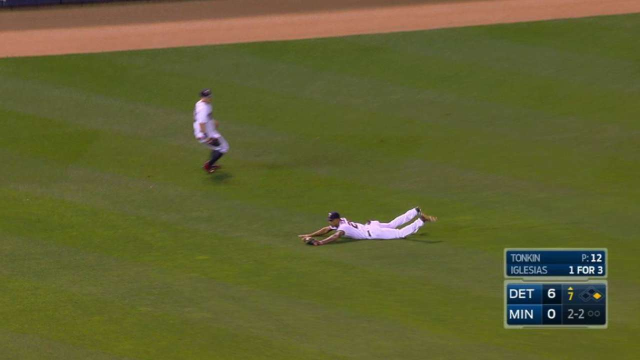 Buxton's great diving catch