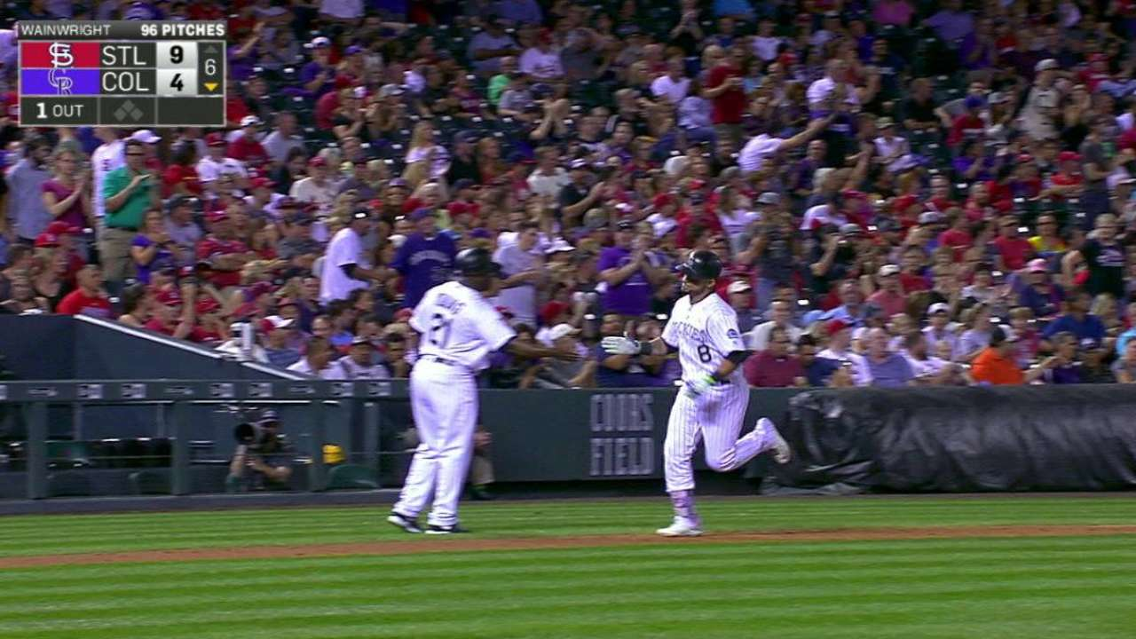 Parra's solo home run