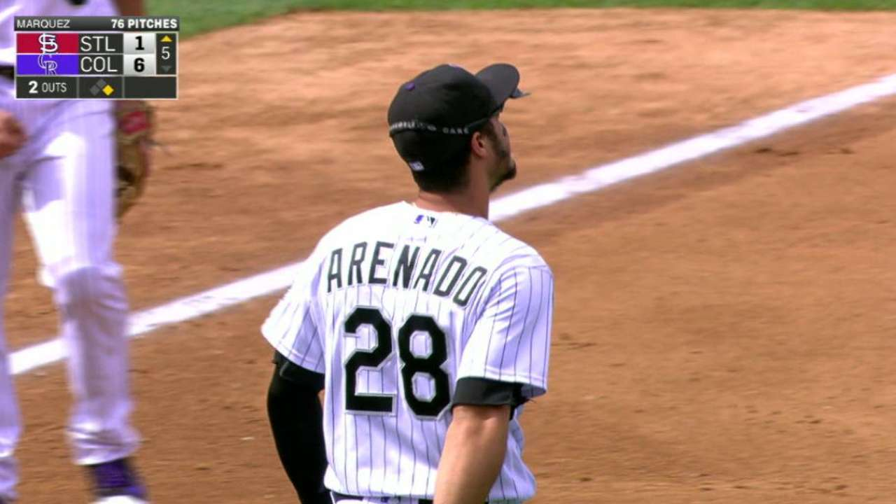 Arenado's backhanded play