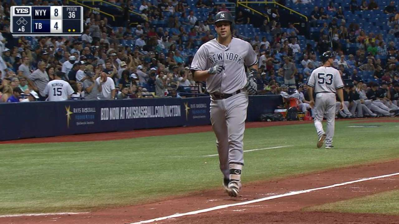 Yanks gain in WC as Sanchez swats 2 HRs