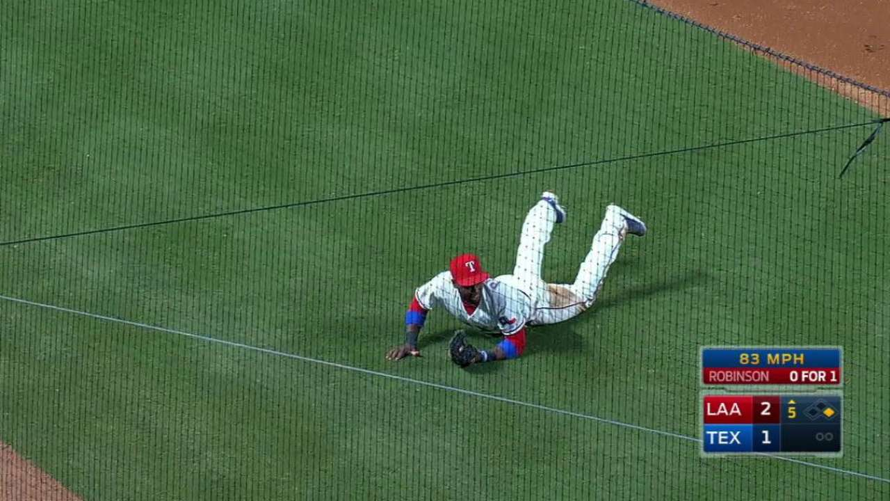 Profar's diving catch on a bunt