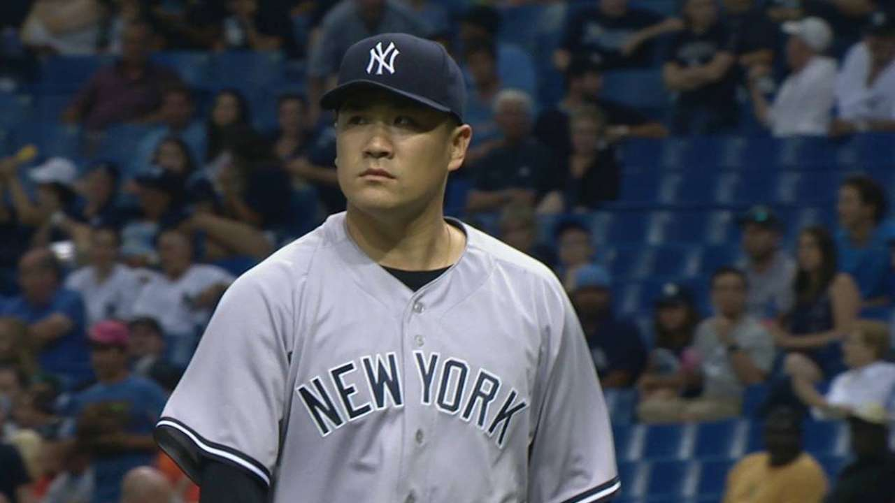 Yankees' Tanaka to miss start with 'slight' stra…