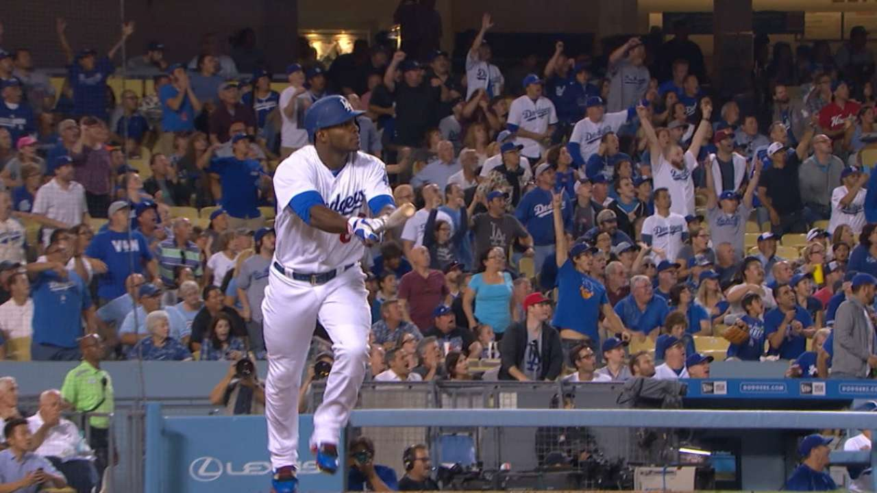 Dodgers' five-run 1st inning