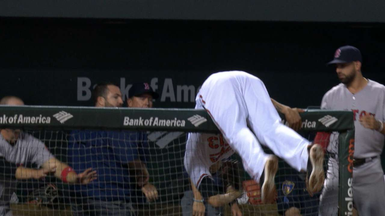 Must C: Machado's lunging grab