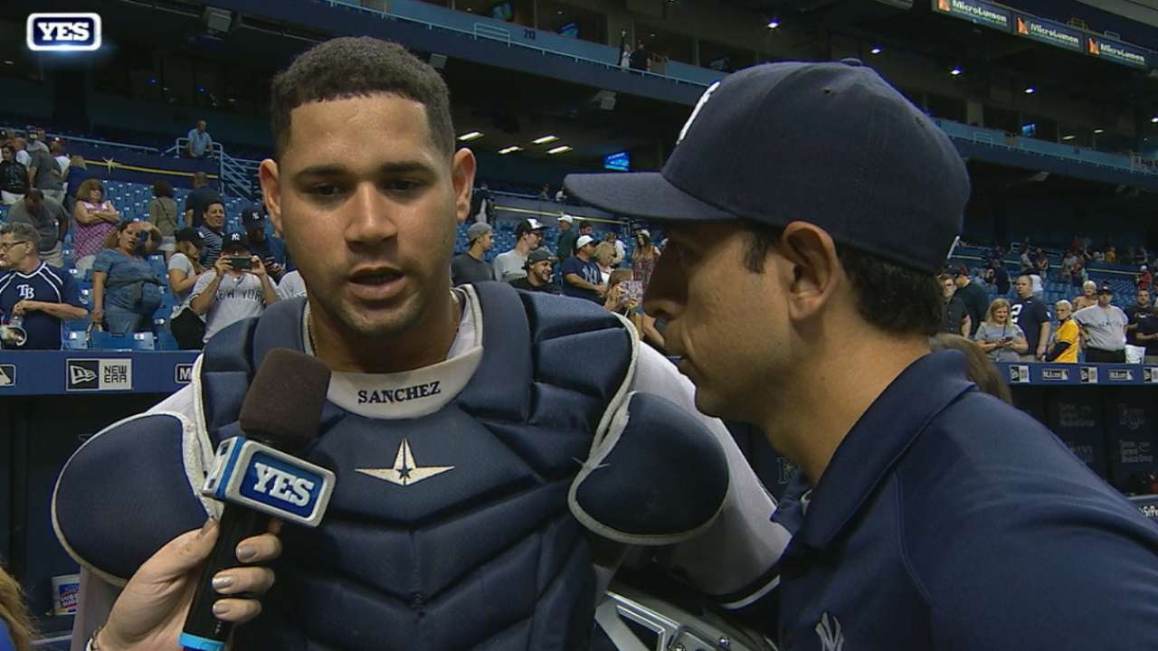 Sanchez on his two-homer game