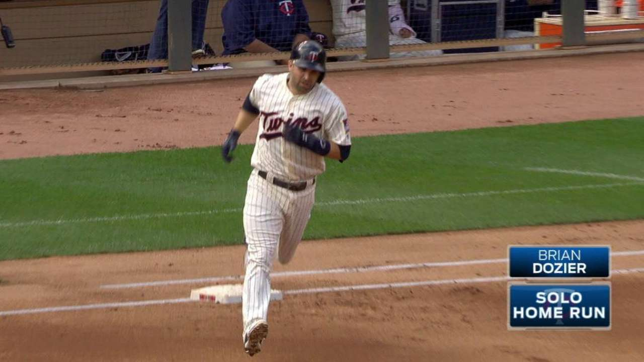 Dozier's 42nd homer of the year