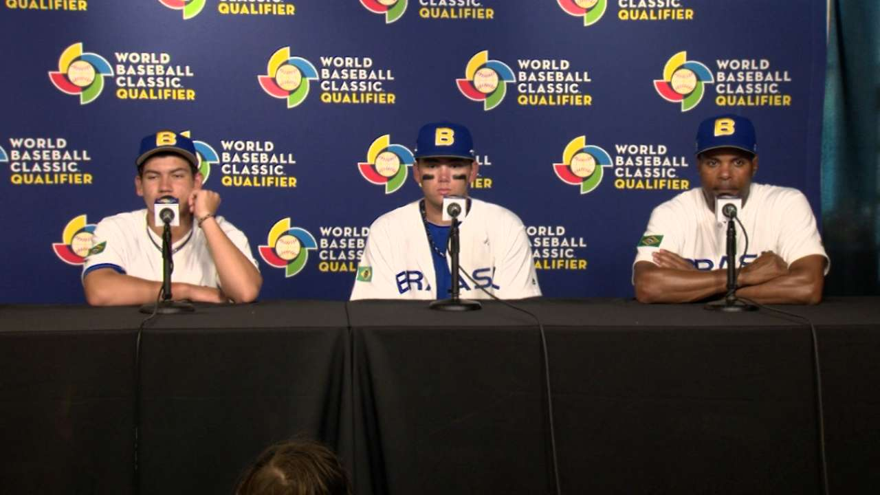 Team Brazil discusses the win