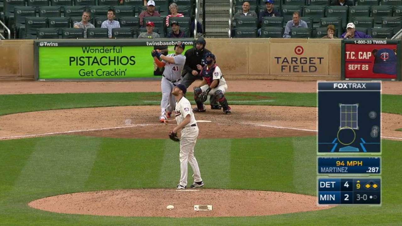 V. Martinez's three-run homer