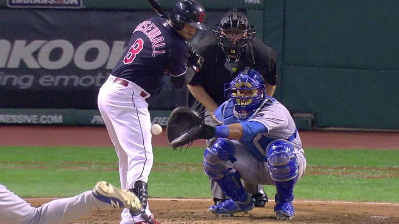 Chisenhall gets hit by a pitch