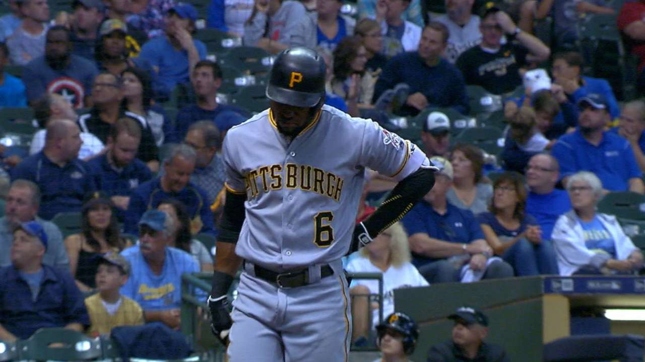 Marte exits during return with back tightness
