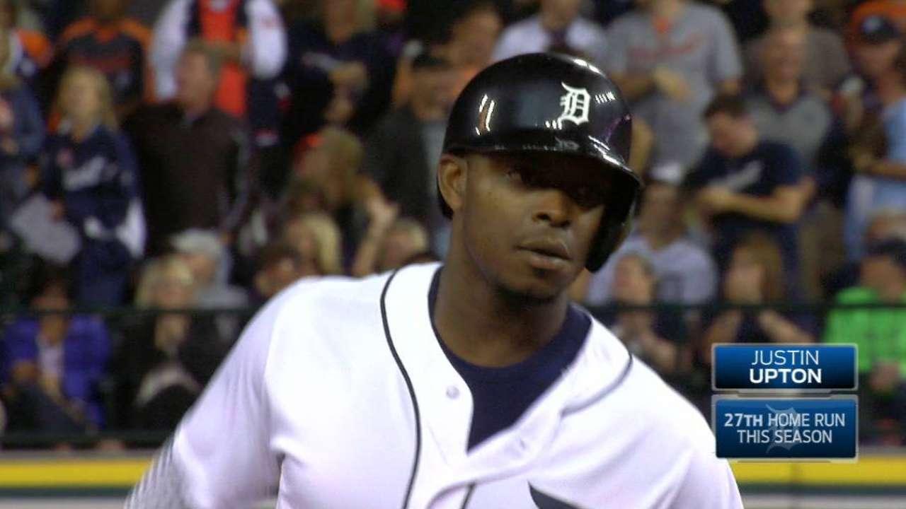 Upton's solo home run