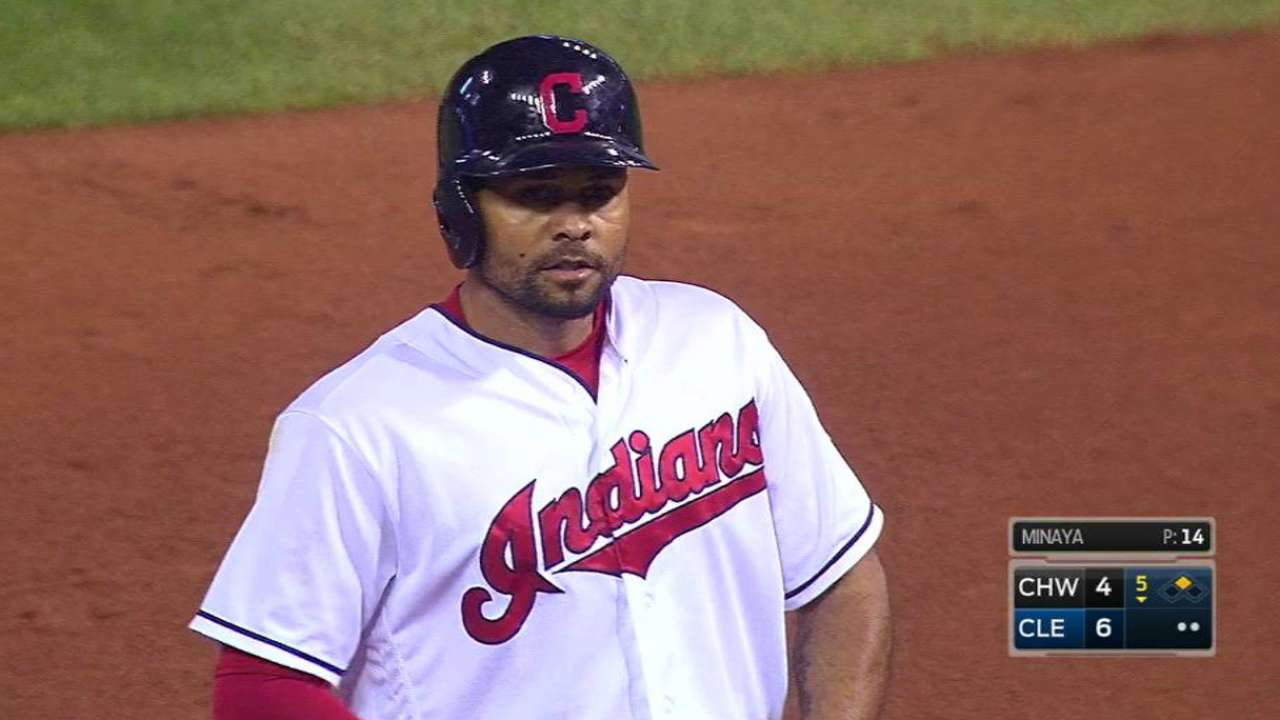 Tribe rocks Sox, trims magic number to 3