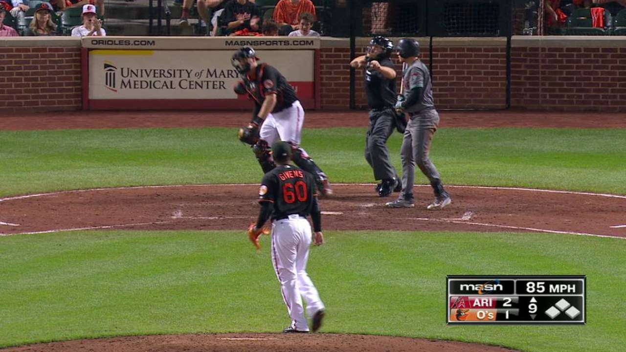 Givens gets Drury out on strikes