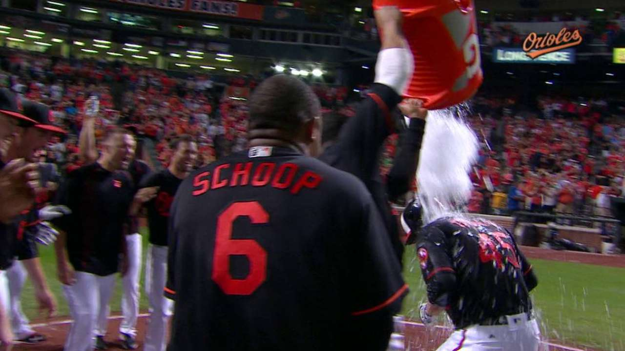 On the Mark! Trumbo, O's walk off to keep pace