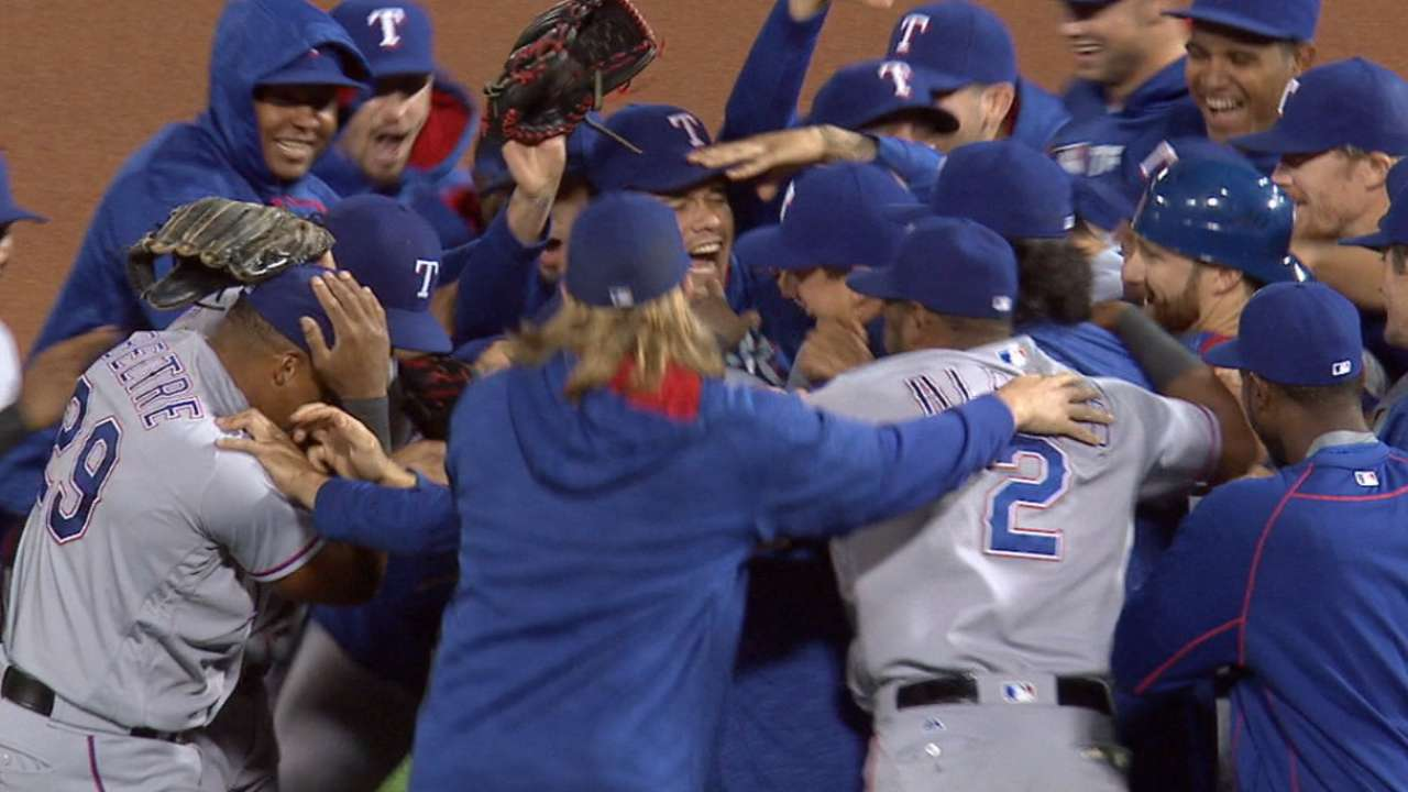 Rangers start clinch celebration with ginger ale