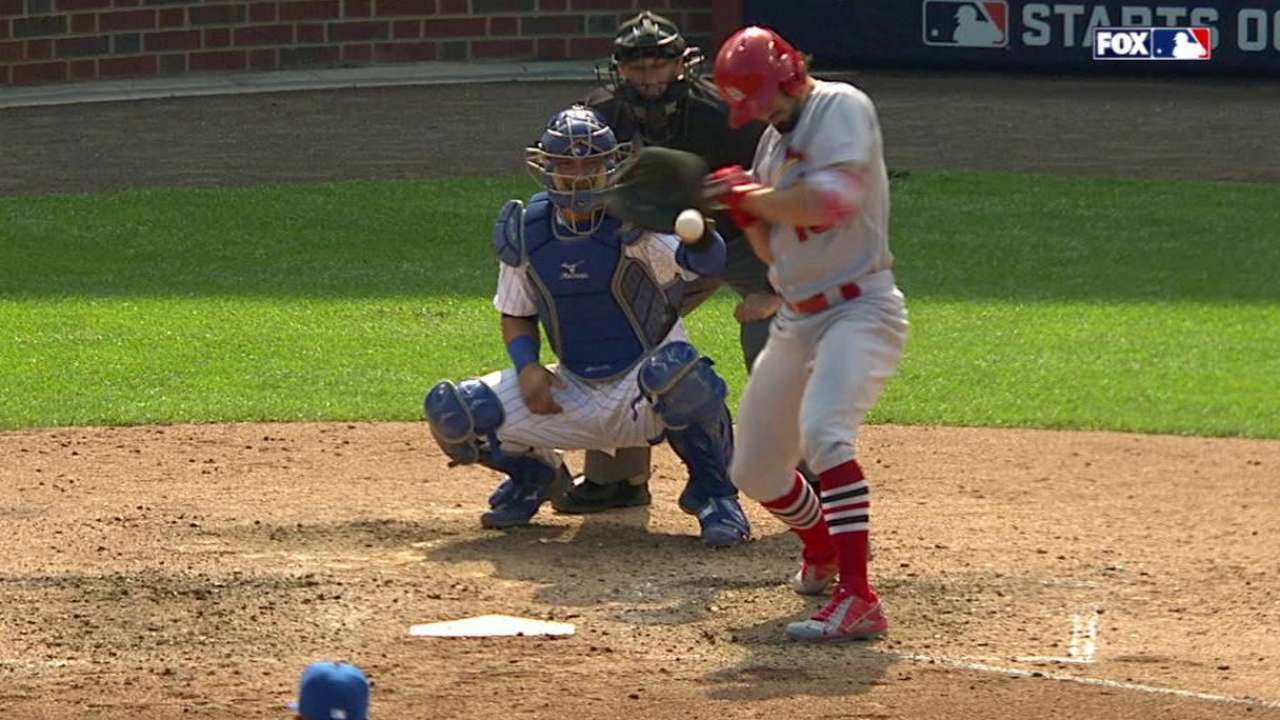 Grichuk's HBP call overturned