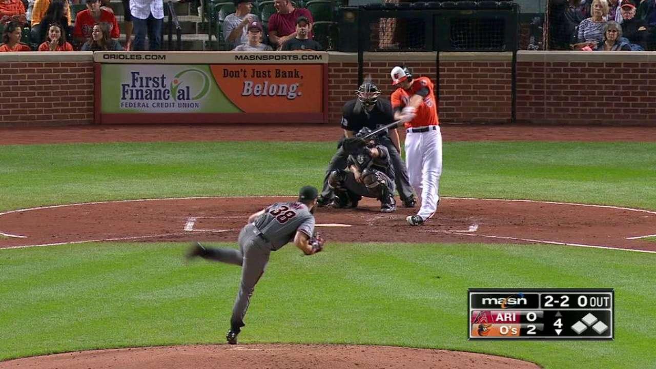 Mancini's solo home run