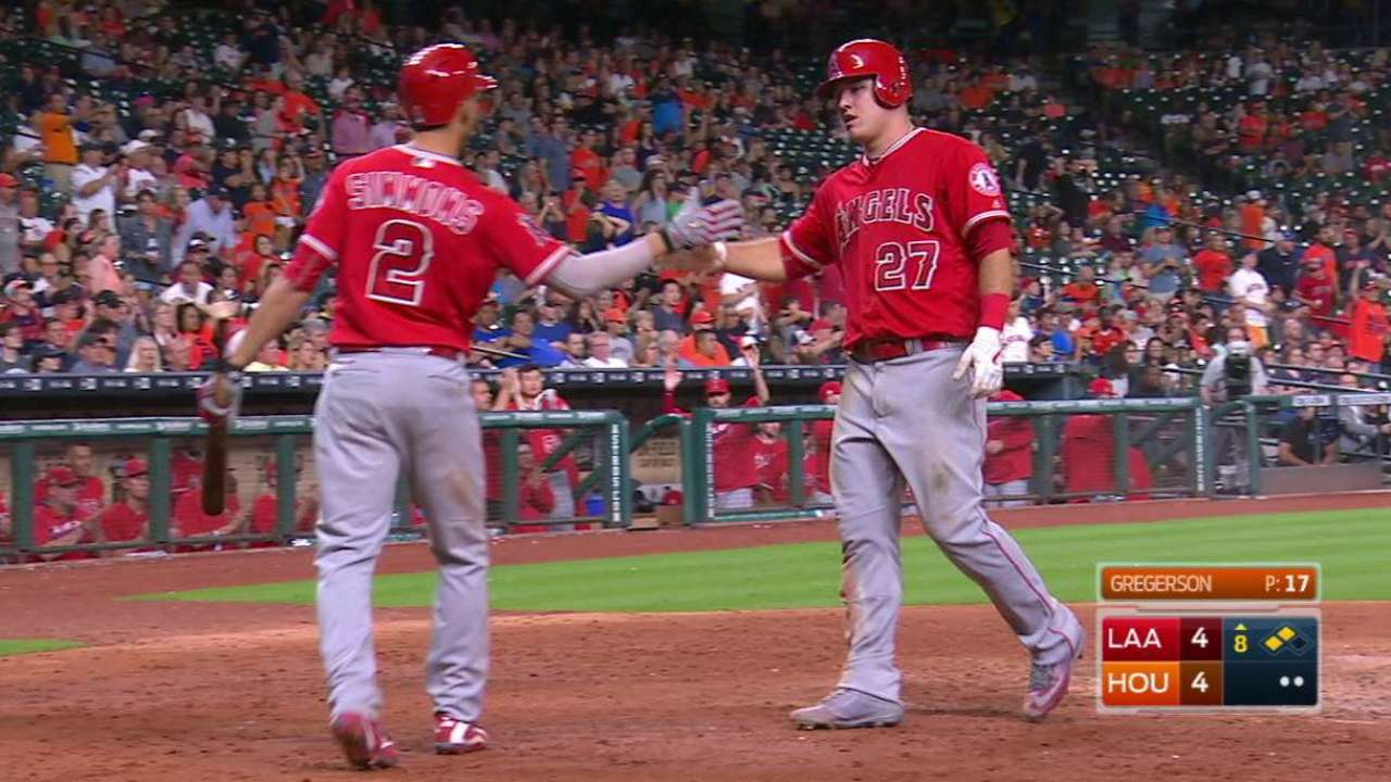 Angels keep trouncing on Astros' Wild hopes